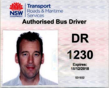 Driver Authority card